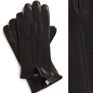NORDSTROM Men's Shop Perforated Leather Gloves